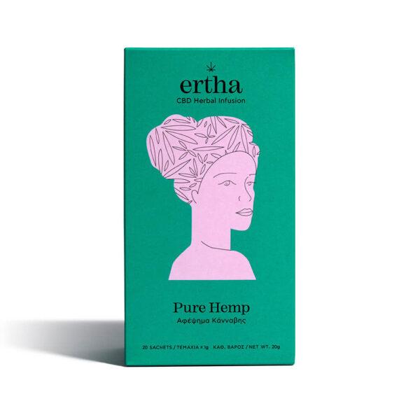Συσκευασία βιολογικό τσάι της Ertha CBD Herbal Infusion Αφέψημα με Κάνναβη 20 γραμμάρια