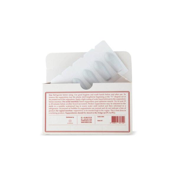 CBD Υπόθετα Κανναβιδιόλης 500mg Endoca συσκευασία ανοιχτή.