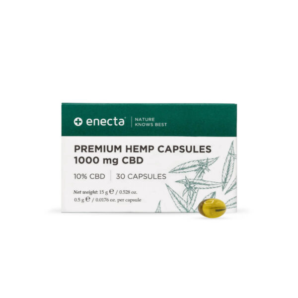 Enecta CBD Capsules new packaging 2021 1000mg - 30 Capsules Athens, Greece.