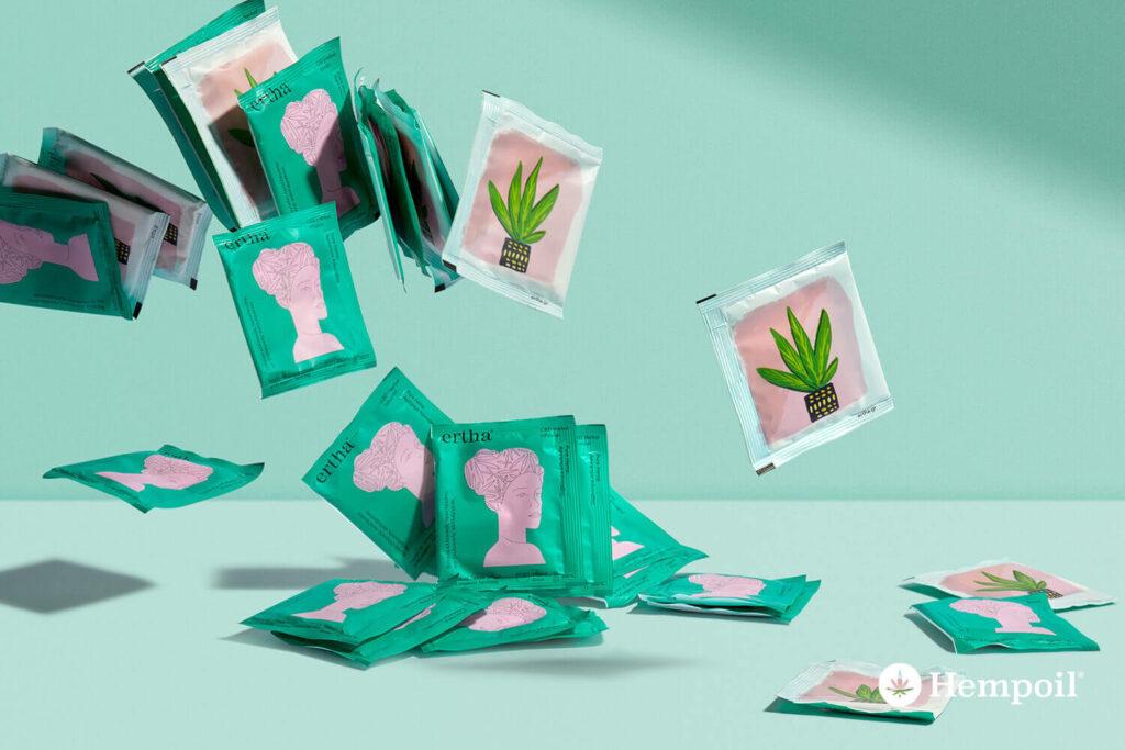 ertha CBD Herbal Τσάι Κάνναβης Βιολογικό σε φακελάκια φωτογραφία προϊόντων.