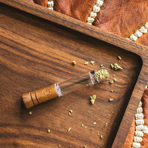 Marley Small Taster - Γυάλινη Πίπα με Ξύλο και φυσητό γυαλί από το Bob Marley Brand