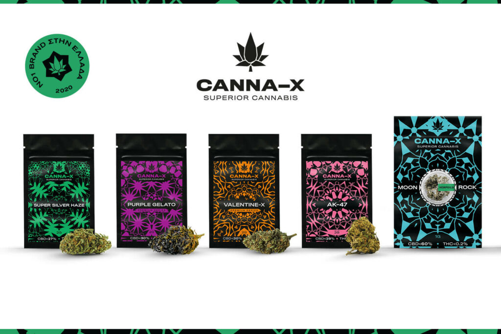 Canna-X CBD Flowers & Moonrock line delivery e-food