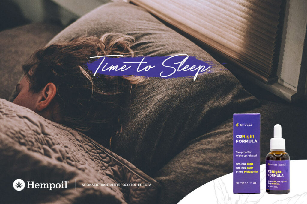 Time to get some sleep with the new enecta CBNight and CBNight plus. Hempoil Exclusive distributor in Greece & Cyprus