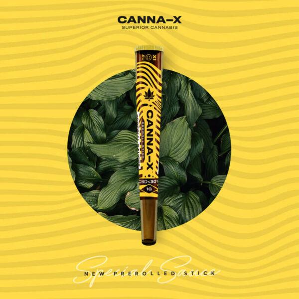"Canna-X Preroll Stick ""Special Sauce"" 30% CBD Κανναβιδιόλη για απαλλαγή από το άγχος και το στρες."