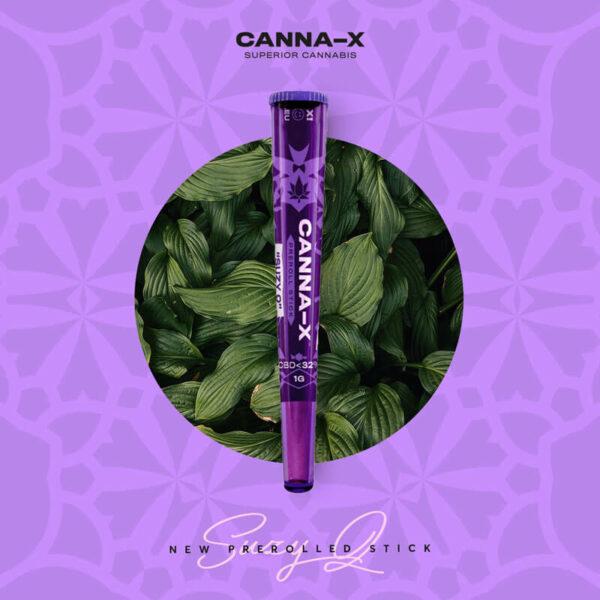 "Canna-X Preroll Stick ""Suzy Q"" 32% CBD κανναβιδιόλη με άνθη κάνναβης."