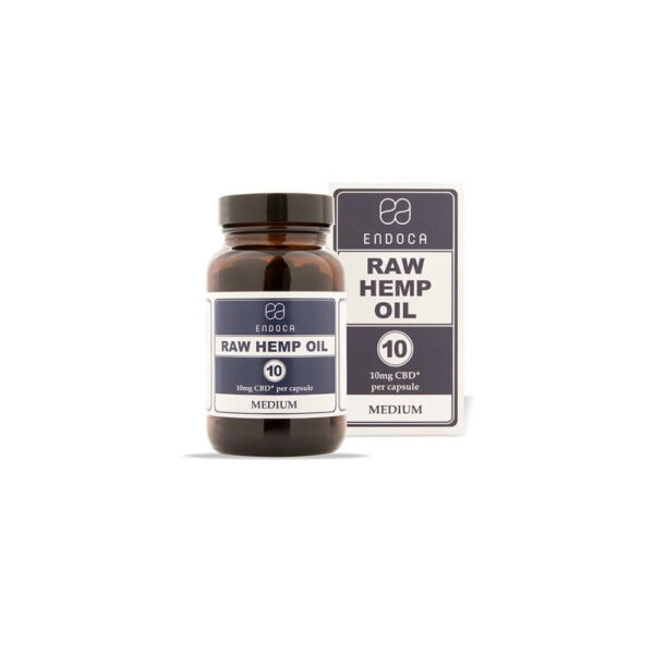 Endoca RAW CBD Capsules (Medium) 300mg CBD+CBDa - 30 Capsules full spectrum