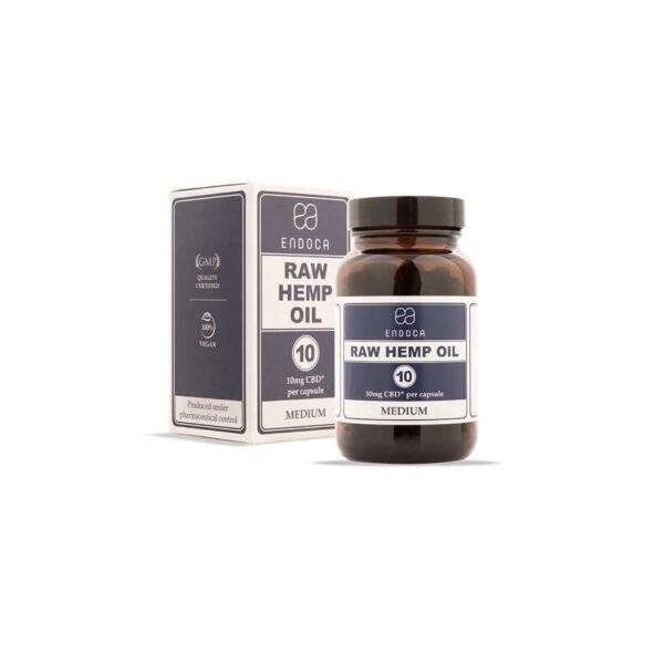 Endoca CBD RAW Κάψουλες (Medium) Ακατέργαστου Ελαίου Κάνναβης 300mg CBD+CBDa - 30 Κάψουλες. Συμπλήρωμα Διατροφής βιολογικό.