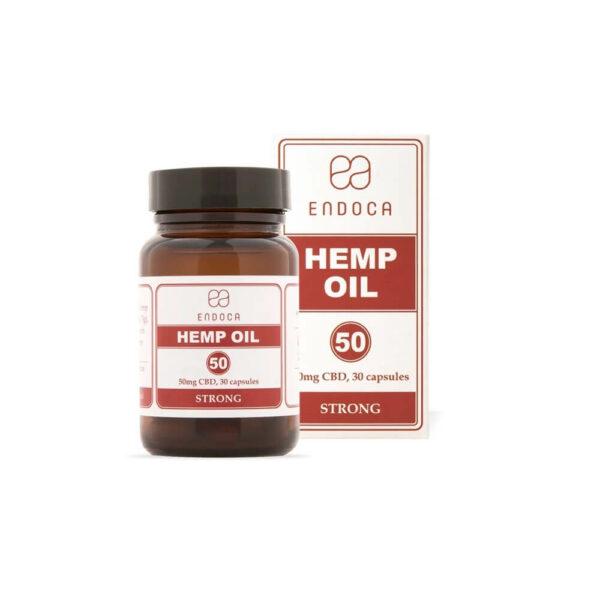 Endoca CBD Capsules (Strong) Total:1500mg - 30 Capsules of full spectrum oil