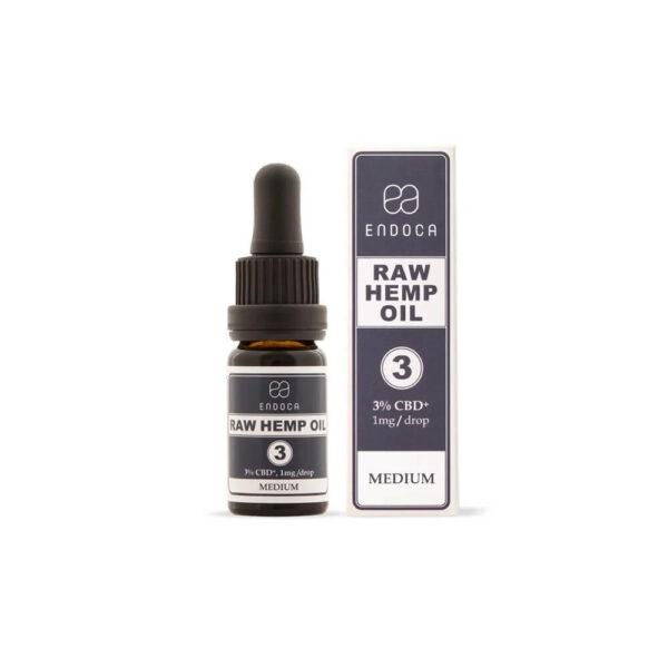 Endoca RAW CBD Oil (Medium) Drops 300mg CBD+CBDa (3%) - 10ml Full Spectrum